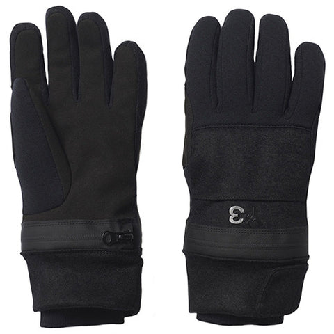 Y-3 ZIP GLOVES / BLACK - 1