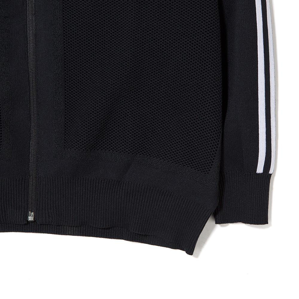 ADIDAS ICON U KNIT ZIP SWEATER / BLACK