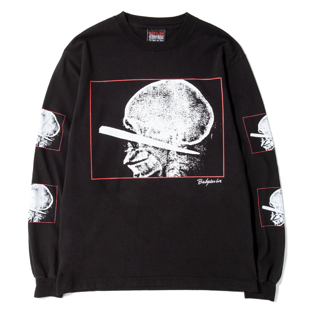 BABSP1902 Babylon Penetrated Long Sleeve T-shirt / Black