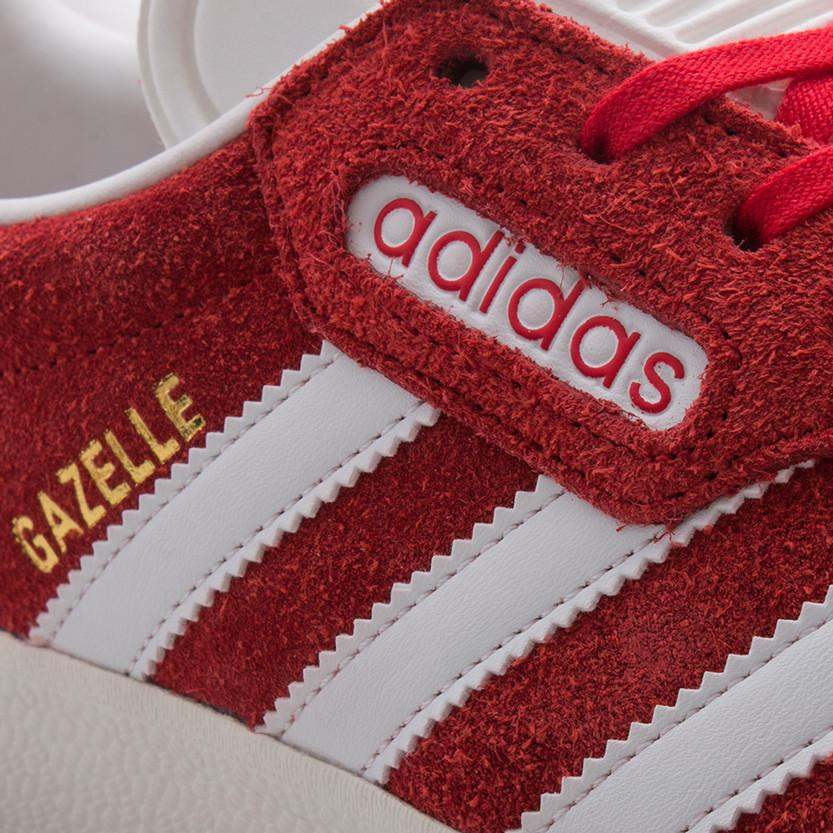 ADIDAS GAZELLE SUPER / RED . style code BB5242