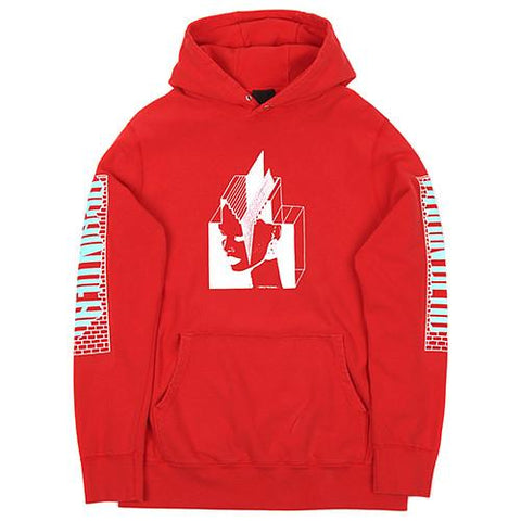 BRAIN DEAD SUPREME ARCHITECT CANADIAN FRENCH TERRY PULLOVER HOOD / RED - 1