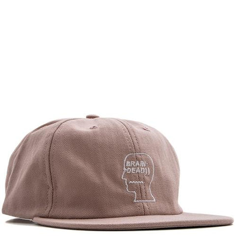 BRAIN DEAD HERRINGBONE LOGO HAT / WASHED PINK - 1