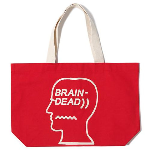 BRAIN DEAD LOGO TOTE / RED - 1