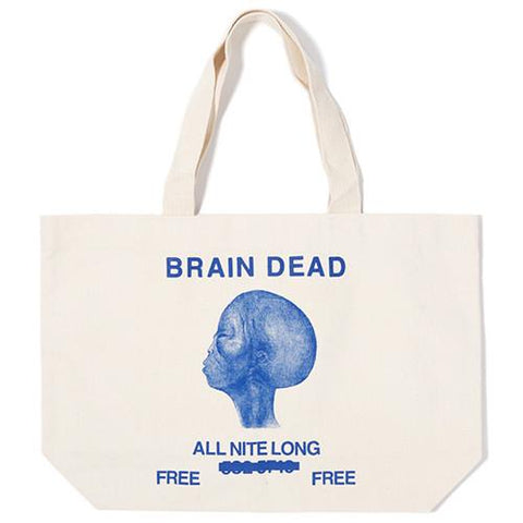 BRAIN DEAD ALL NIGHT LONG TOTE / NATURAL - 1