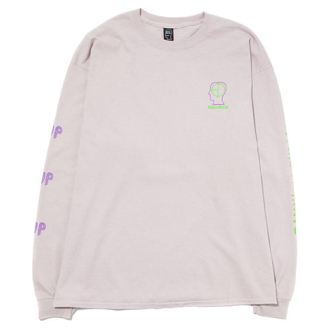 BRAIN DEAD 2UP PSYCHO PRIMITIVE LS T-SHIRT / DUSTY PINK