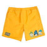 Brain Dead Mushroom Patch Nylon Beach Short / Gold