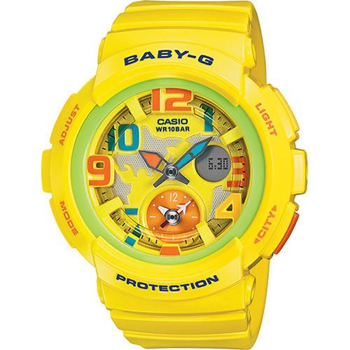 G-SHOCK BABY-G DUAL WORLD TIME / YELLOW. style code GS-BGA190-9B