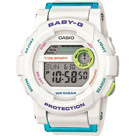 G-SHOCK BABY-G GLIDE DIGI RUG WHITE / YELLOW