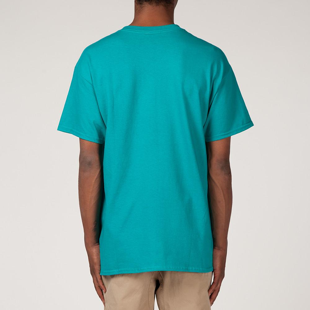 style code BGHDT0034JDE. BEINGHUNTED CHROME MOLY T-SHIRT / JADE GREEN