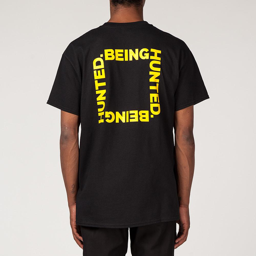style code BGHDT0036BLK. BEINGHUNTED THE RIGHT THING T-SHIRT / BLACK
