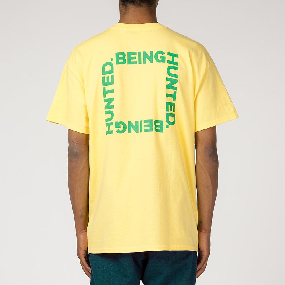 style code BGHDT0036YLW. BEINGHUNTED THE RIGHT THING T-SHIRT / YELLOW