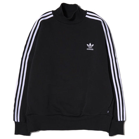 ADIDAS WOMEN'S 3 STRIPE TURTLE NECK SWEATSHIRT / BLACK