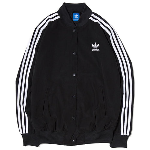 ADIDAS WOMEN'S 3 STRIPES BOMBER JACKET / BLACK