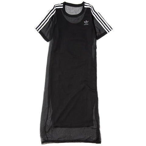 ADIDAS WOMEN'S 3 STRIPES LAYER DRESS / BLACK - 1