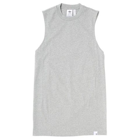 ADIDAS WOMEN'S XBYO ELONGATED TANK / MEDIUM HEATHER GREY