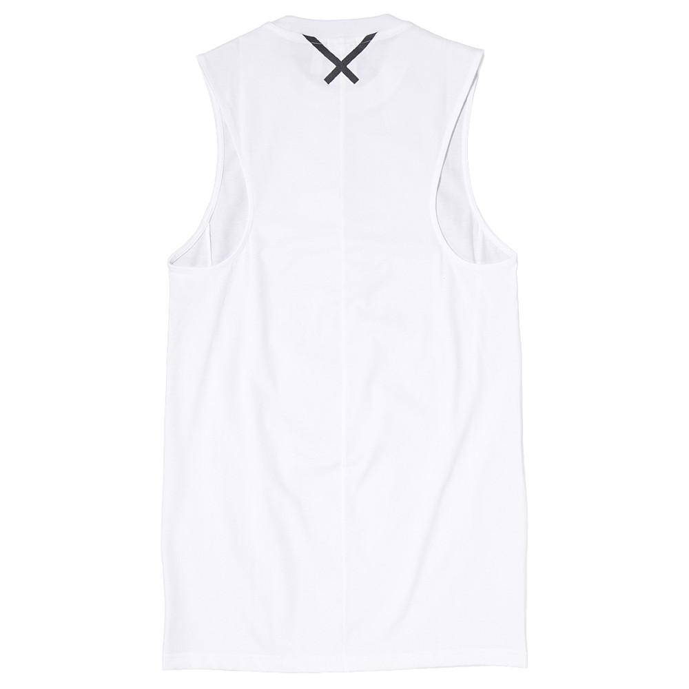 style code BK2294. ADIDAS WOMEN'S XBYO ELONGATED TANK / WHITE