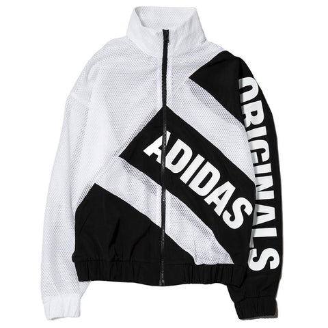 ADIDAS WOMEN'S MESH TRACK TOP WHITE / BLACK - 1