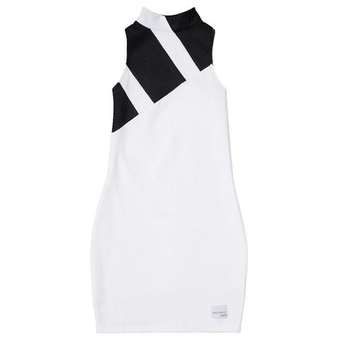 ADIDAS WOMEN'S MESH DRESS WHITE / BLACK - 1