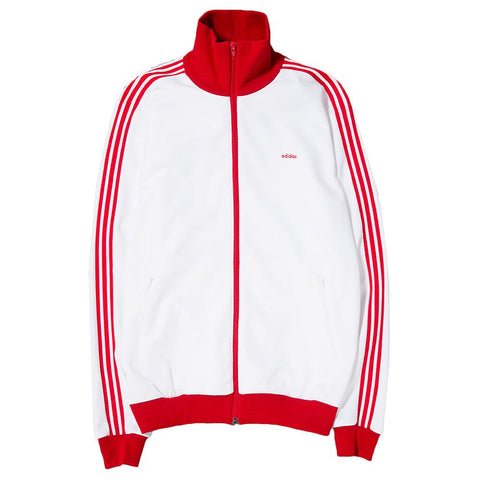 style code BK7669. ADIDAS CONSORTIUM MADE IN GERMANY BECKENBAUER TRACKSUIT / WHITE