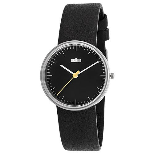 BRAUN CLASSIC LADIES WATCH QUARTZ 3 HAND MOVEMENT / BLACK. code BN0021BKBKL