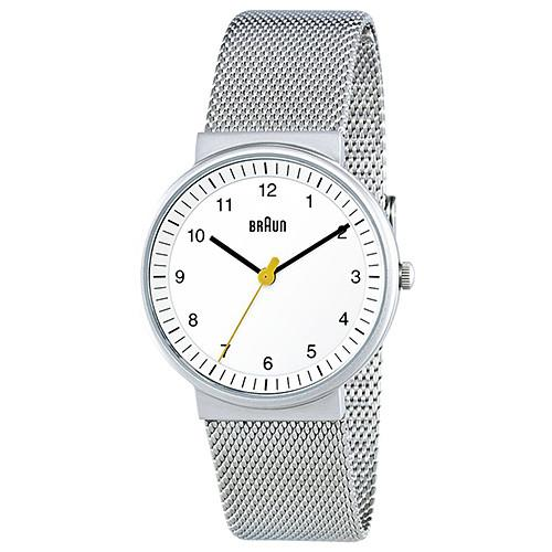 BRAUN CLASSIC LADIES WATCH QUARTZ 3 HAND MOVEMENT / SILVER. product code BN0031WHSLMHL