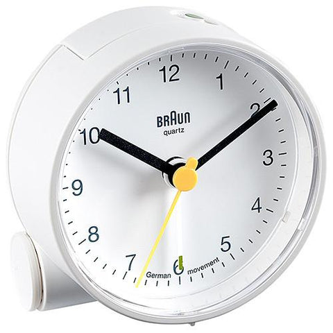 BRAUN CLASSIC ANALOGUE ALARM CLOCK / WHITE