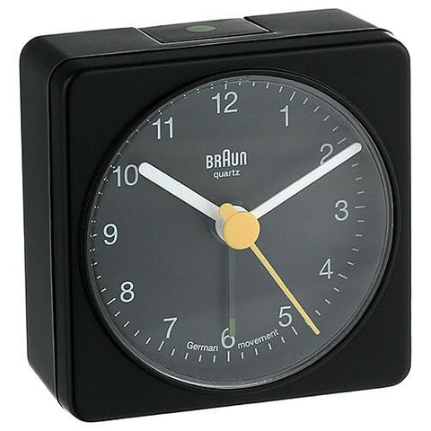 BRAUN CLASSIC ANALOGUE ALARM CLOCK / BLACK