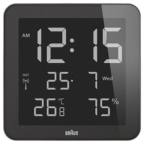 BRAUN DIGITAL LCD DISPLAY WALL CLOCK / BLACK