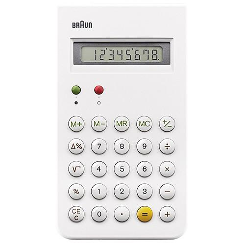 BRAUN CALCULATOR / WHITE. product code BNE001WH