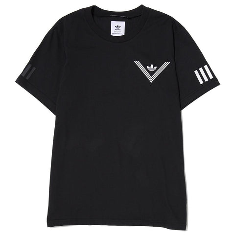 ADIDAS ORIGINALS BY WHITE MOUNTAINEERING 1 POINT T-SHIRT / BLACK