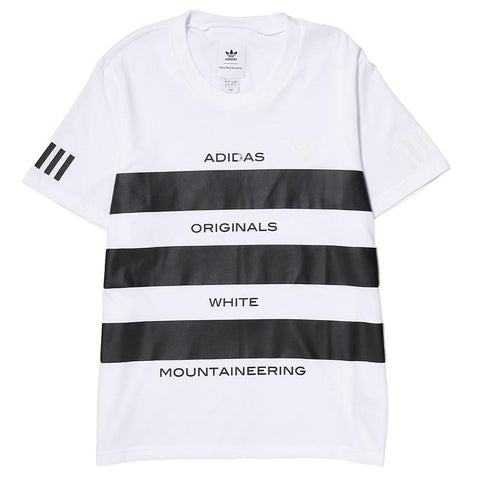 ADIDAS ORIGINALS BY WHITE MOUNTAINEERING AOWM T-SHIRT / WHITE