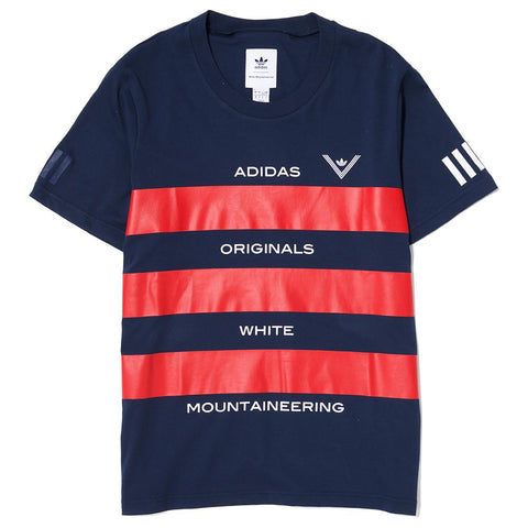 ADIDAS ORIGINALS BY WHITE MOUNTAINEERING AOWM T-SHIRT / NAVY