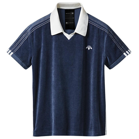 ADIDAS ORIGINALS BY ALEXANDER WANG VELOUR POLO / NIGHT INDIGO