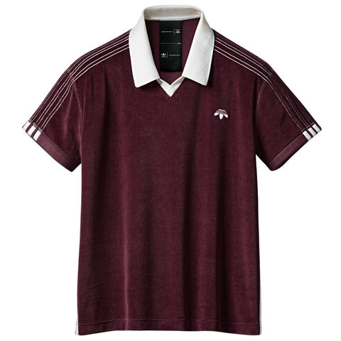 ADIDAS ORIGINALS BY ALEXANDER WANG VELOUR POLO / MAROON