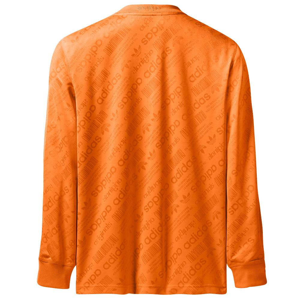 style code BR0233. ADIDAS ORIGINALS BY ALEXANDER WANG SOCCER LS / SUPER ORANGE
