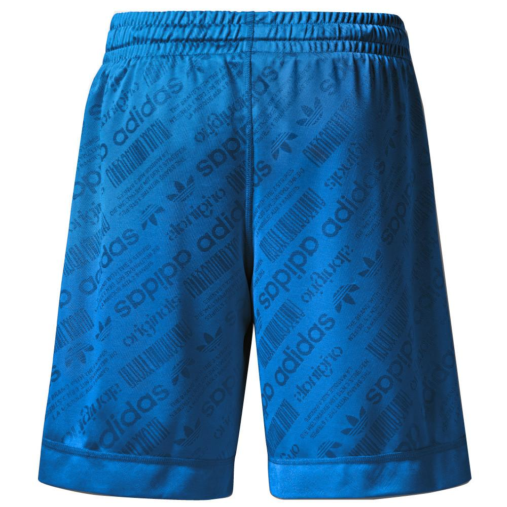 style code BR0243. ADIDAS ORIGINALS BY ALEXANDER WANG SOCCER SHORT / BLUEBIRD