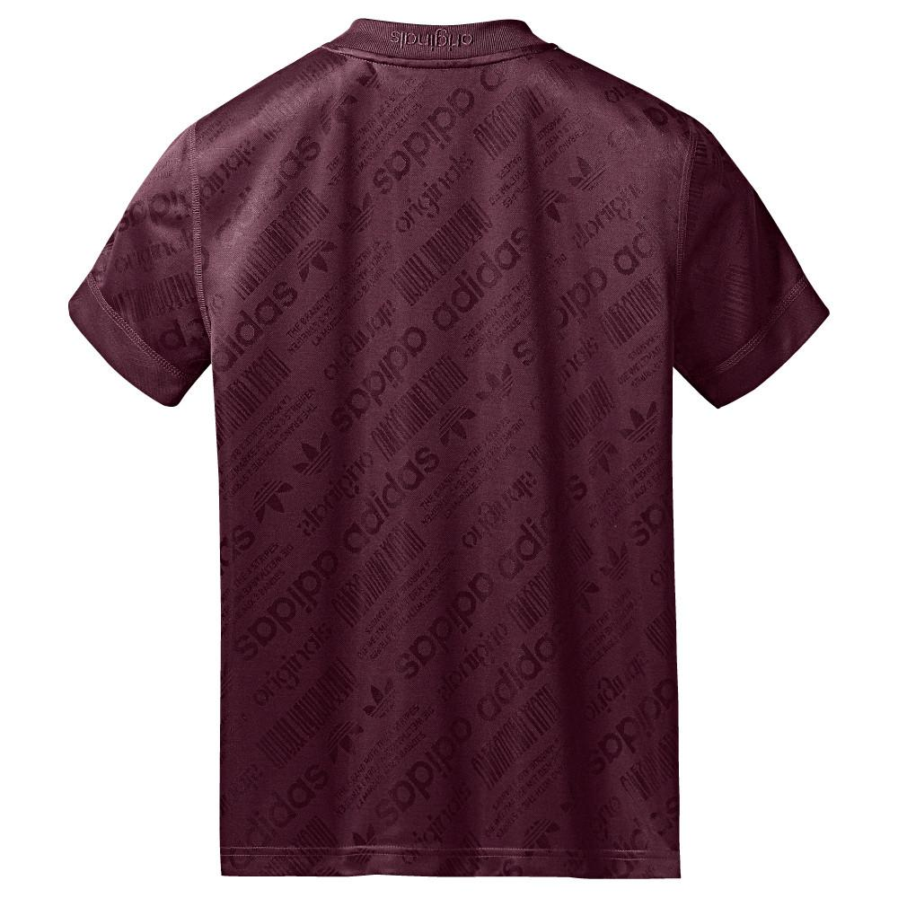 style code BR0255. ADIDAS ORIGINALS BY ALEXANDER WANG SOCCER JERSEY / MAROON
