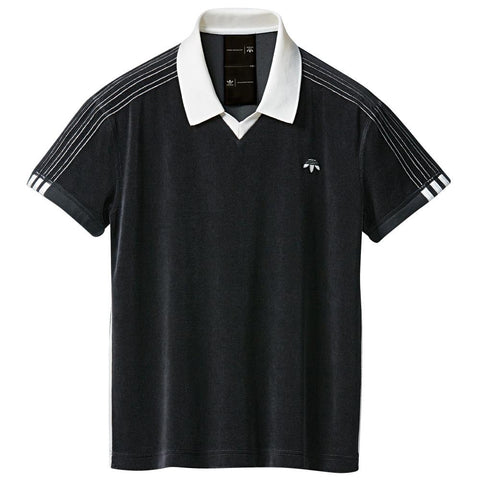 ADIDAS ORIGINALS BY ALEXANDER WANG VELOUR POLO / BLACK