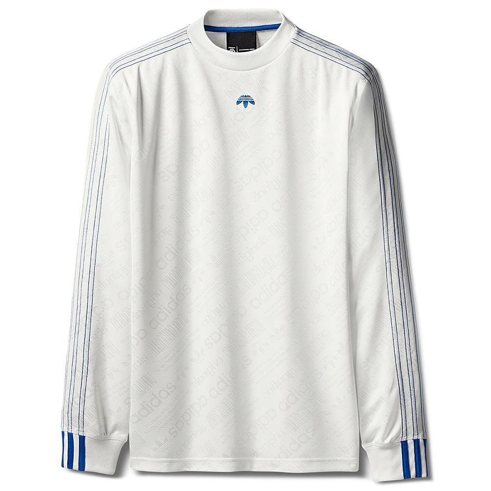 style code BR9234. ADIDAS ORIGINALS BY ALEXANDER WANG SOCCER  LS / CORE WHITE