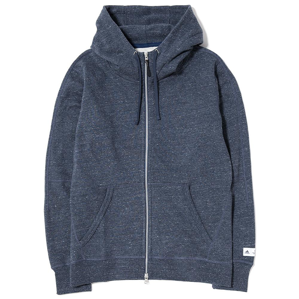 style code BS0605. ADIDAS X REIGNING CHAMP FTFZ HOODY / HEATHER NAVY