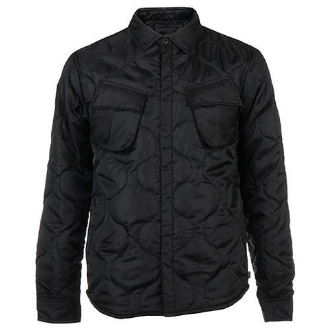 HUF BUTTON UP QUILTED BDU SHIRT / BLACK - 1
