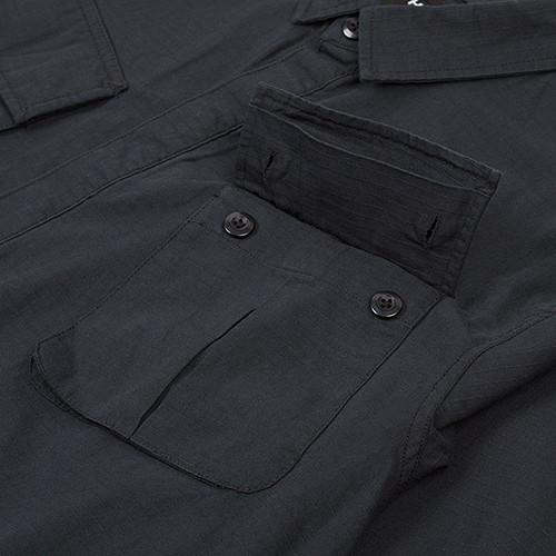 HUF BDU MILITARY RIPSTOP LS SHIRT / BLACK - 2
