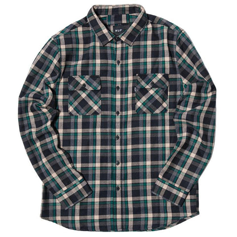 HUF TAYLOR FLANNEL SHIRT / GREEN - 1