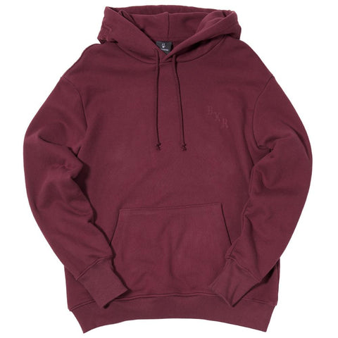 BORN X RAISED FLAGTONE PULLOVER HOOD / BURGUNDY - 1