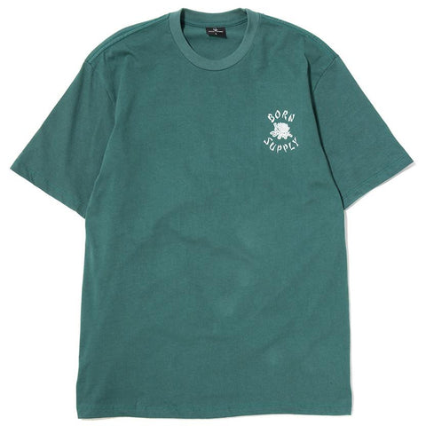 BORN X RAISED X SUPPLY T-SHIRT / SEAFOAM - 1