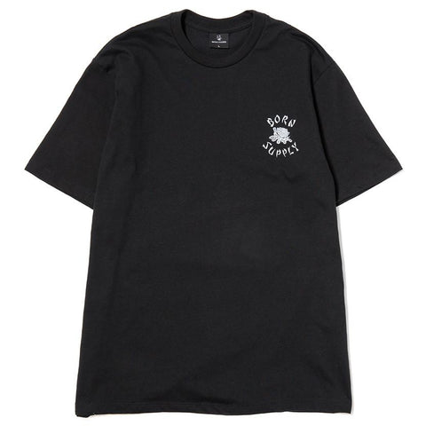 BORN X RAISED X SUPPLY T-SHIRT / BLACK - 1