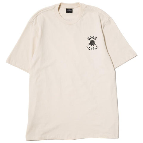 BORN X RAISED X SUPPLY T-SHIRT / CREAM - 1