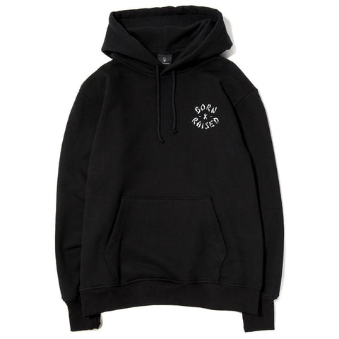BORN X RAISED WESTSIDE ROCKER PULLOVER HOOD / BLACK - 1
