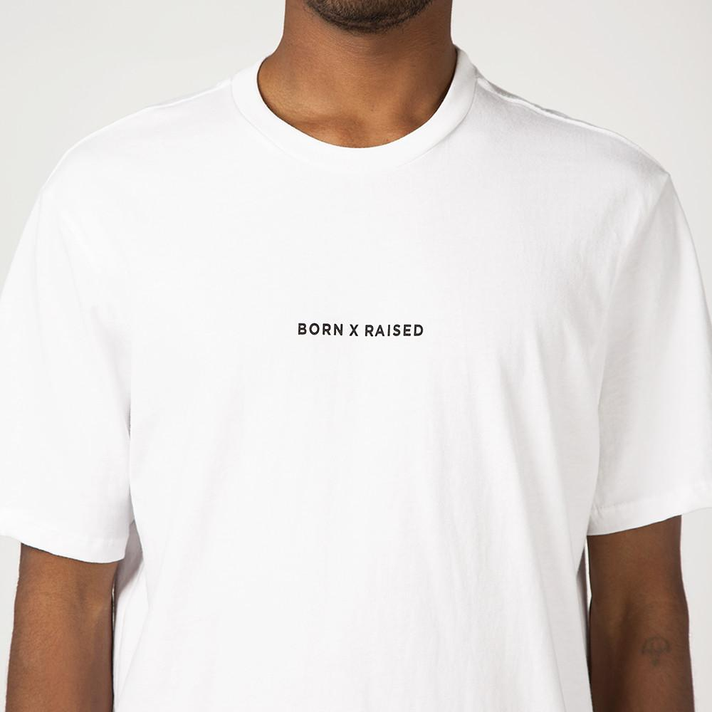 style code BXRSP17DELWHT. BORN X RAISED DELUSIONS T-SHIRT / WHITE