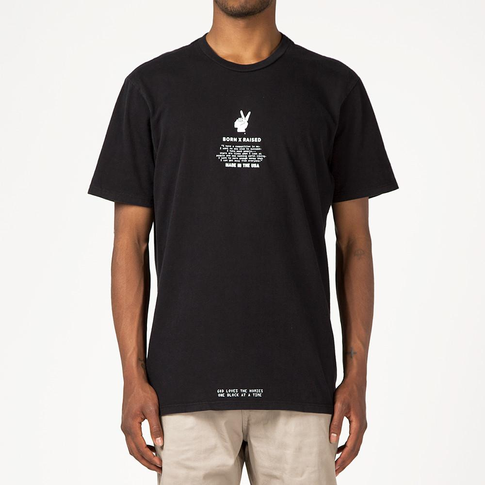 style code BXRSP17HOKBLK. BORN X RAISED HOKA T-SHIRT / BLACK